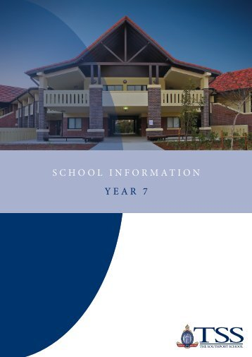 2013 Year 7 Curriculum Handbook - The Southport School