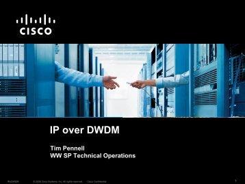 Cisco IP Over DWDM Solution - Terena