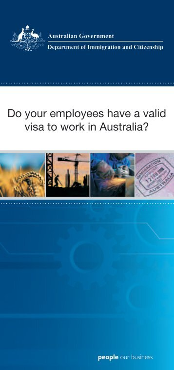 Do your employees have a valid visa to - Department of Immigration ...