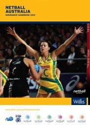 Letter From The Chief Executive Officer Of Netball Australia
