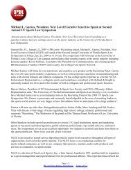 Michael L. Garnes, President, Next Level Executive Search to Speak ...