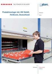 Produktionslager der AIV GmbH, Heilbronn, Deutschland - Viastore ...