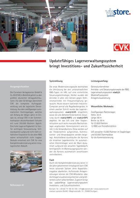 Modernisierung Distributionszentrum Cornelsen Verlagskontor ...