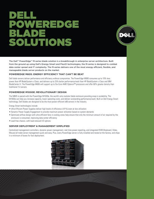 DELL POWEREDGE BLADE SOLUTIONS