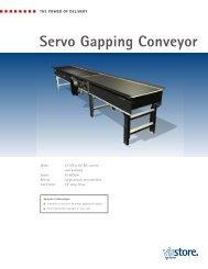 Servo Gapping Conveyor - ViaStore Systems