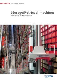 Storage/Retrieval machines - Viastore Systems