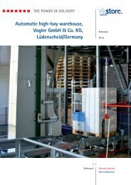 Automatic high-bay warehouse, Vogler GmbH ... - Viastore Systems