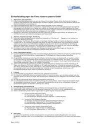 Einkaufsbedingungen der Firma viastore systems GmbH