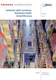 Automatic pallet warehouse, Keimfarben GmbH - ViaStore Systems