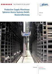 Production Supply Warehouse Sphairon Access Systems GmbH ...