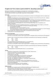Bauseitige Leistungen - Viastore Systems GmbH