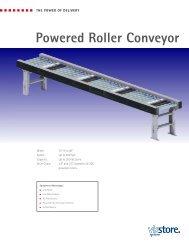 Powered Roller Conveyor - Viastore Systems