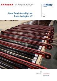 Foam Panel Assembly Line Trane, Lexington KY - ViaStore Systems