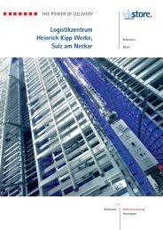 Logistikzentrum Heinrich Kipp Werke, Sulz am ... - ViaStore Systems