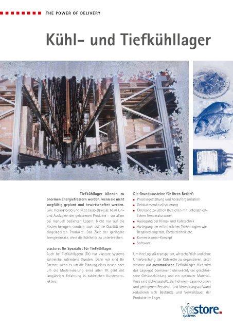 Kühl- und Tiefkühllager - Viastore Systems GmbH