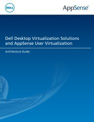Dell Desktop Virtualization Solutions and AppSense User ...