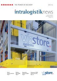 Download intralogistik News 01|12 - Viastore Systems
