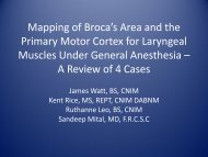 Mapping of Broca's Area and the Primary Motor Cortex for ... - MSET