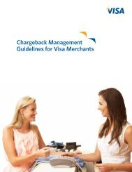 Chargeback Management Guidelines For Visa Merchants VRM 04.03