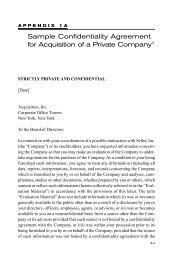 Sample Confidentiality Agreement for Acquisition of a ... - McGraw-Hill