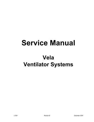 xii service manual vela v rh yumpu com Patients On Ventilator in ICU Person On Ventilator