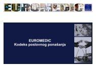 EUROMEDIC Kodeks poslovnog ponašanja