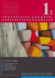 notiziario n.1.2009 - Collegio dei Geometri della provincia di Trento