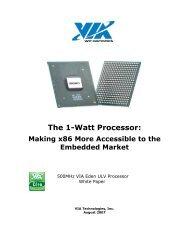 White Paper - VIA Technologies, Inc.
