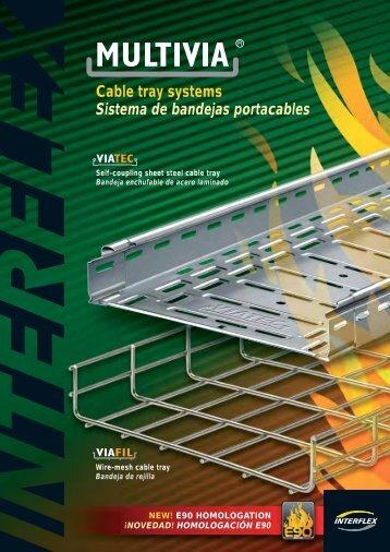 Cable tray systems Sistema de bandejas portacables - Interflex