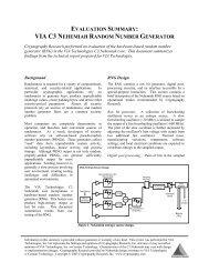 via c3 nehemiah random number generator - VIA Technologies, Inc.