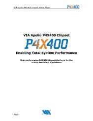 VIA Apollo P4X400 Chipset Enabling Total System Performance