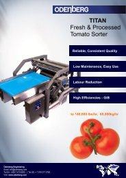 TITAN Fresh & Processed Tomato Sorter - Odenberg
