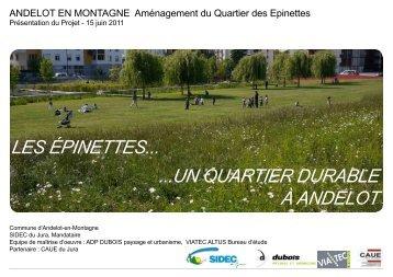les épinettes... ...un quartier durable à andelot - CAUE du Jura