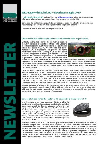 Newsletter 01/2010 Regel & Klärtechnik