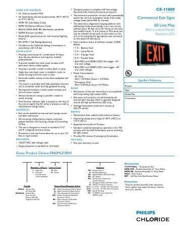 Commercial Exit Signs 60 Line Max CE-11800 - Chloride