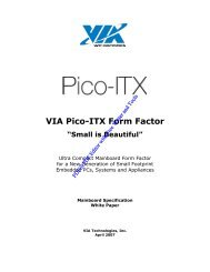 PM800/800 Tech Brief - VIA Technologies, Inc.
