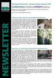 WILD Regel+Klärtechnik AG – Newsletter-Ausgabe September 2009