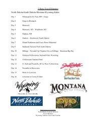 5-State Travel Itinerary North Dakota-South Dakota-Montana ...