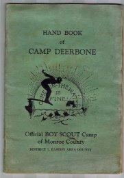 hand book camp deerbone