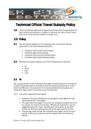 SAL Technical Official Travel Subsidy Policy - Swimming Australia