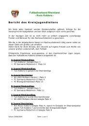 Fußballverband Rheinland - Kreis Koblenz - Bericht des ...