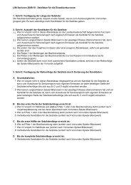 2. Schritt: Auswahl der Kandidaten für die Setzliste - TTVN