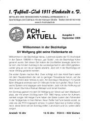 Heft 3-05.indd - 1. FC 1911 Hochstadt eV