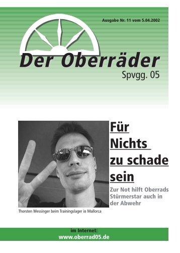OberradZeitung 11.qxd - Spvgg. 05 Frankfurt-Oberrad