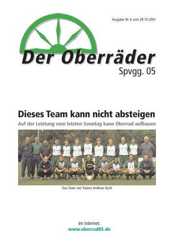 Stadionzeitung 06/2001 - Spvgg. 05 Frankfurt-Oberrad