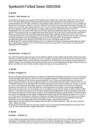 Spielbericht Fußball Saison 2005/2006 - Sallach
