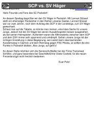 SCP - News Jugendturniere im Winter 09/10 - SC Peckeloh