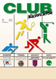 RUDERN TENNIS HOCKEY GOLF - CLUB Nachrichten