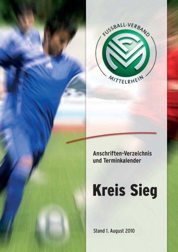 Anschriften-Verzeichnis und Terminkalender - Fußballkreis Sieg ...