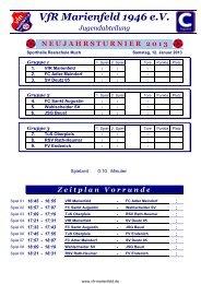 12. Januar 2013 - Turnier 2 - VfR Marienfeld 1946 e.V.